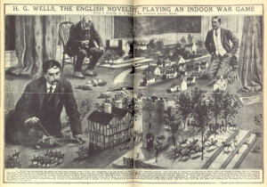 H.G. Wells playing Little Wars