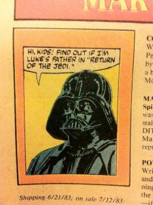 Darth Vader pitching Return of the Jedi