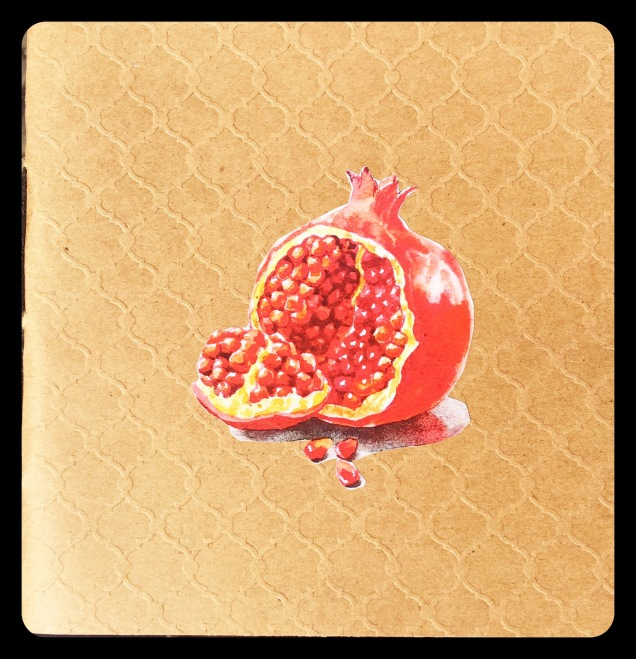 "Inside cover to ""Pomegranate"""